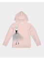 detská mikina s kapucňou DOLLY doodling, baletná ružová