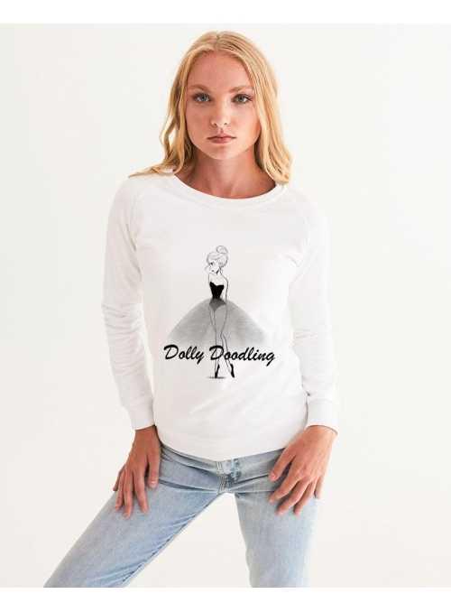 dámska DOLLY doodling mikina, biela