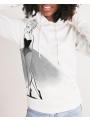 dámska DOLLY doodling mikina s kapucňou, biela - XS