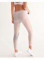 woman Dolly Doodling yoga pants, ballet blush