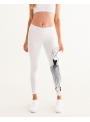 dámske yoga DOLLY doodling legíny, biele - XS