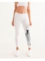 woman yoga pants Dolly Doodling, white