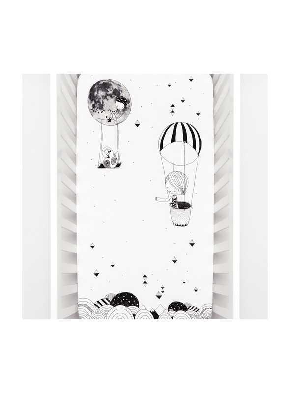 Plachta na detskú postieľku 60x120 cm- Johanka a balón
