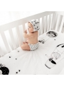 60x120cm Cot Fitted Sheet Frieda & The Balloon
