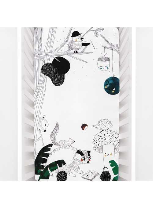 Plachta na detskú postieľku 70x140 cm- Sníček v lese