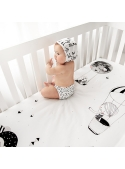70x140cm Cot Fitted Sheet Frieda & The Balloon