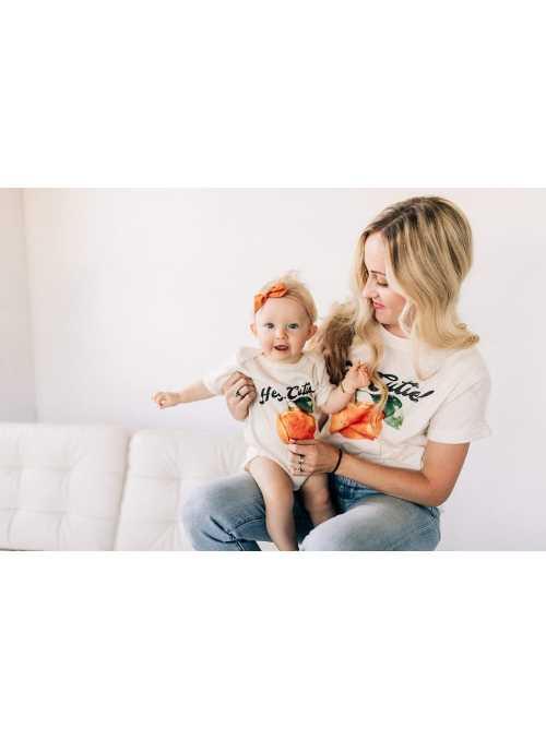 Hey cutie - dámske tričko s pomarančom, matching rodinné