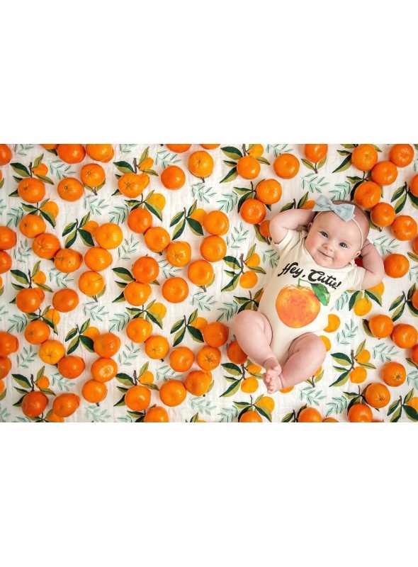 Hey cutie -detské body s pomarančom, matching rodinné