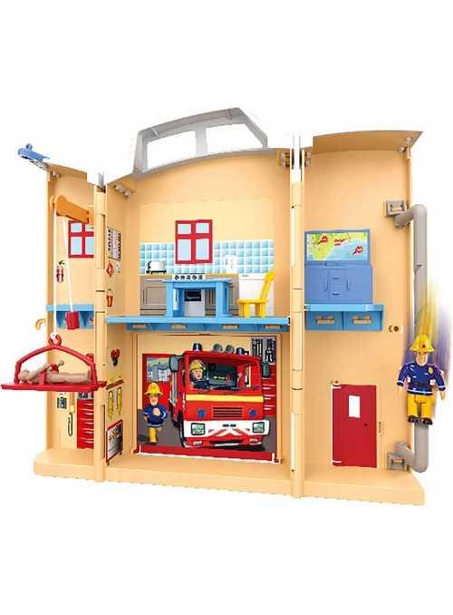 Požiarnik Sam - hasičská stanica v kufríku