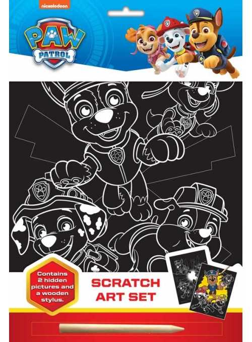 PAW PATROL SCRATCH ART SET