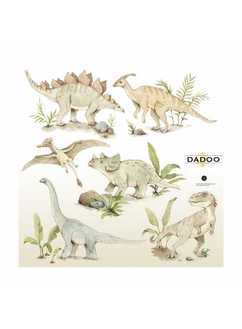 Dino world wall stickers