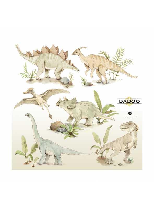Dino world wall stickers