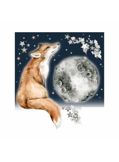 Dobrú noc pani líška - nálepky na stenu
