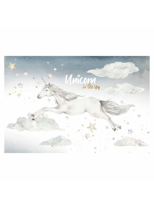 Unicorn at night - wall stickers