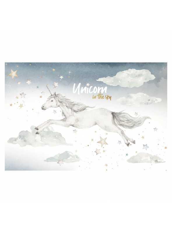 Unicorn at night - wall stickers
