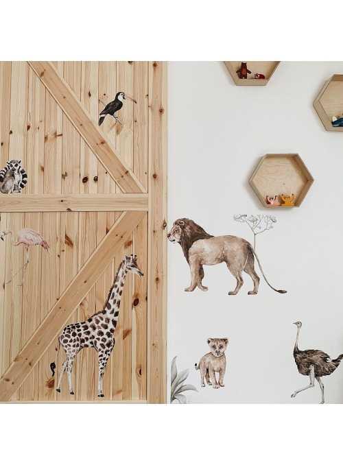 Zvieratká zo savany - nálepky na stenu