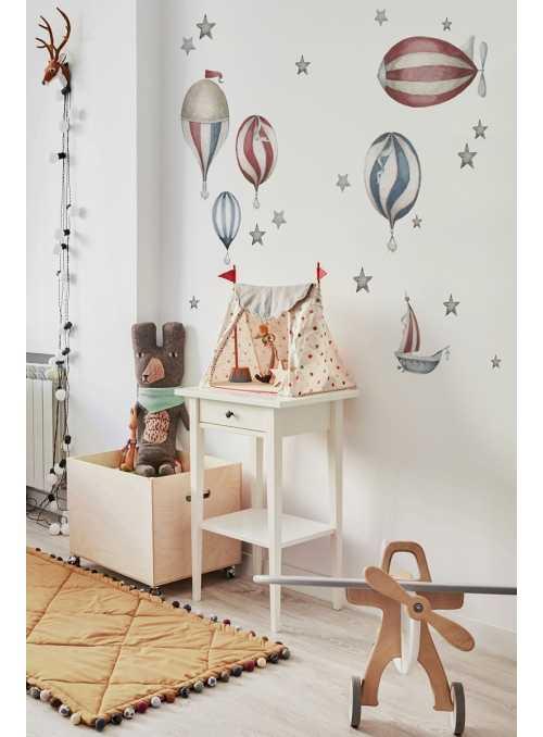 Balóny na oblohe - nálepky na stenu