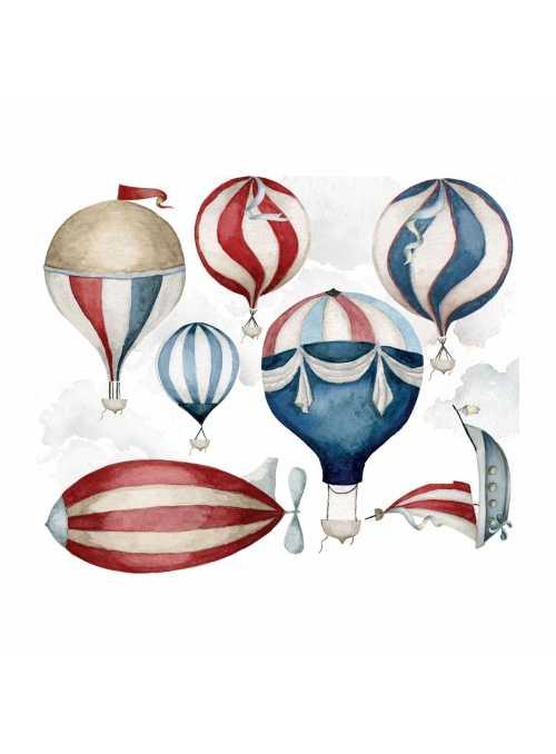 Balóny na oblohe - veľkosť S - nálepky na stenu