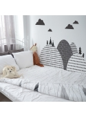 Northern mountains - wall stickers 155 cm x 50 cm