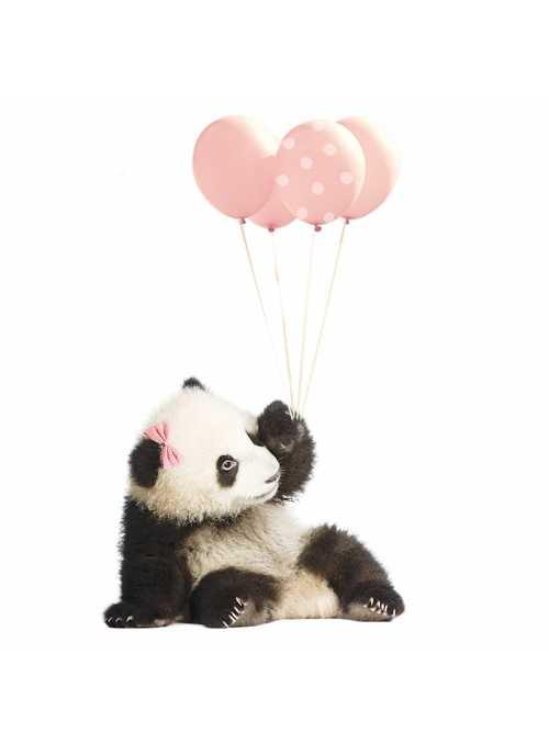 Panda pre moje dievčatko - nálepky na stenu