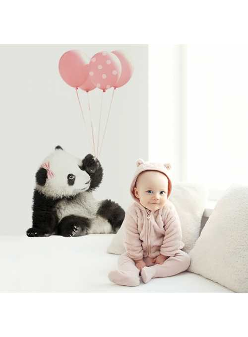 Panda pre moje dievčatko - veľkosť S - nálepky na stenu