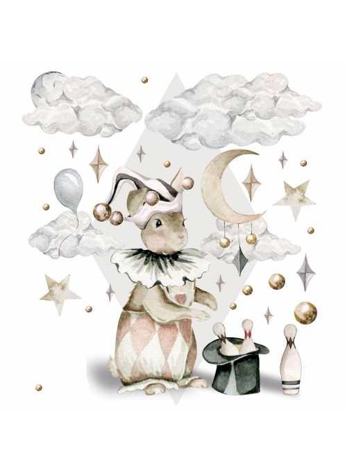 Zajko kúzelník - nálepky na stenu