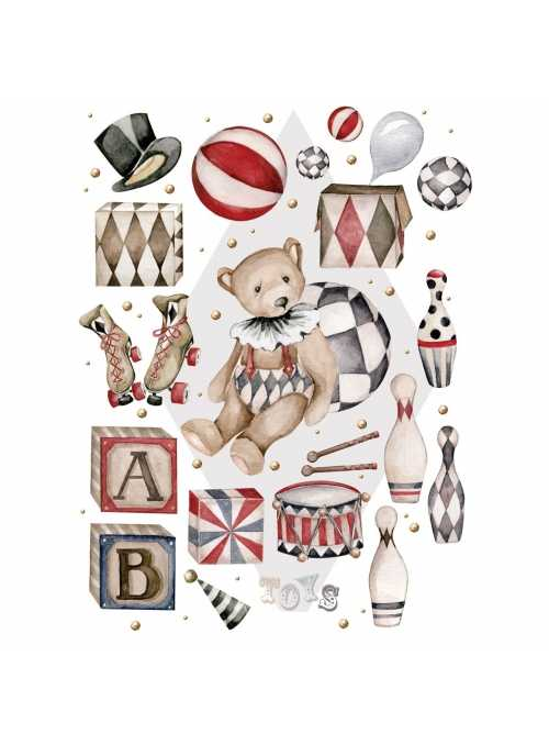 My teddy bear, big set - wall stickers