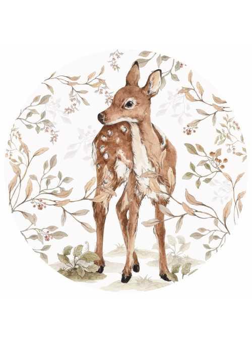 My little bambi - circle wall sticker
