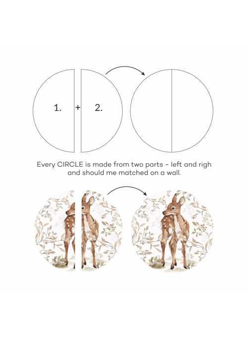 kruh Môj malý srnček Bambi - nálepky na stenu