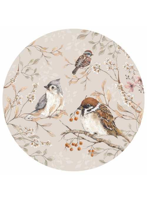 Vtáčia záhrada, kruh - veľkosť M - nálepky na stenu