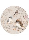 Bird garden, circle wall stickers