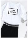 LIKE FATHER - biela detská mikina