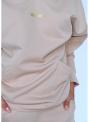 Luxusná dámska mikina s kapucňou, capuccino prešívaná,