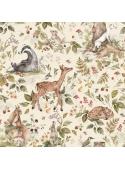 Deň v lese so zvieratkami - tapeta na stenu
