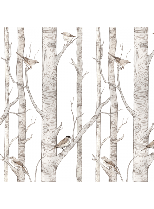 V korunách vtáčej záhrady - tapeta na stenu