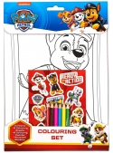 Paw patrol coloring set + stickers and color pencils