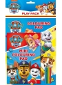 Paw patrol - set for coloring - small + large block + dyes