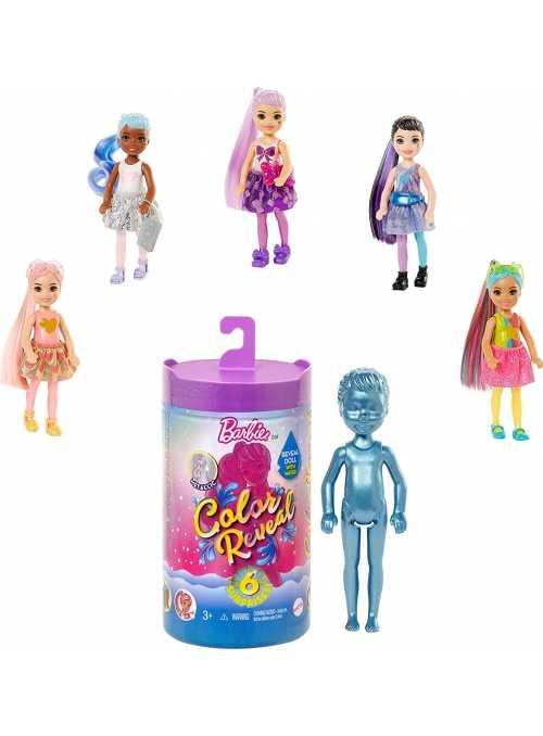 Mattel Barbie chelsea - LIMITKA - color reveal, tajomné odhalenie skrytej podoby Barbie