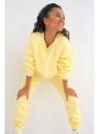 Dámska mikina slniečkovo žltá