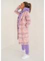 Dámska mikina s kapucňou fialová