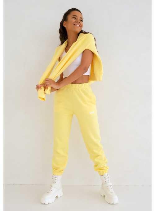 Dámske tepláky slniečkovo žlté