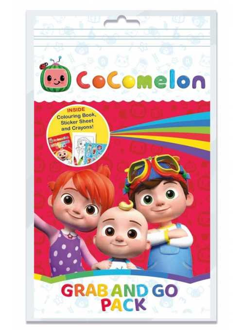 Cocomelon - set omaľovánky, voskoviek a nálepiek v balení