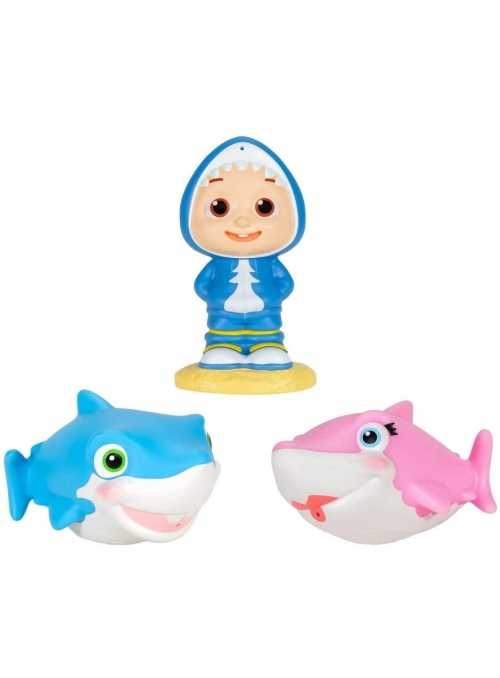Cocomelon - set 3 hračiek do vane Baby Shark