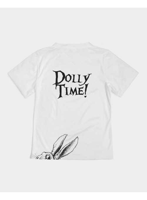 detské DOLLY tričko DOLLY čaj o piatej, biele - 4-5 rokov