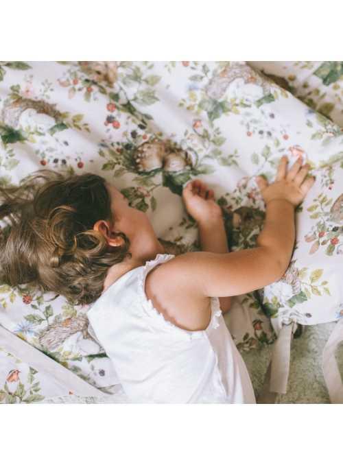 Detská povliečka na paplón a vankúš, spiace zvieratká