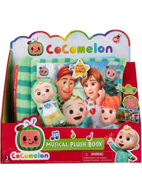 Cocomelon - hudobná detská plyšová kniha + JJ záložka