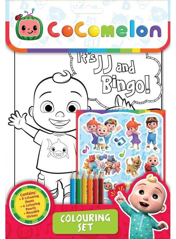 Cocomelon - set na vyfarbovanie s farbičkami a nálepkami
