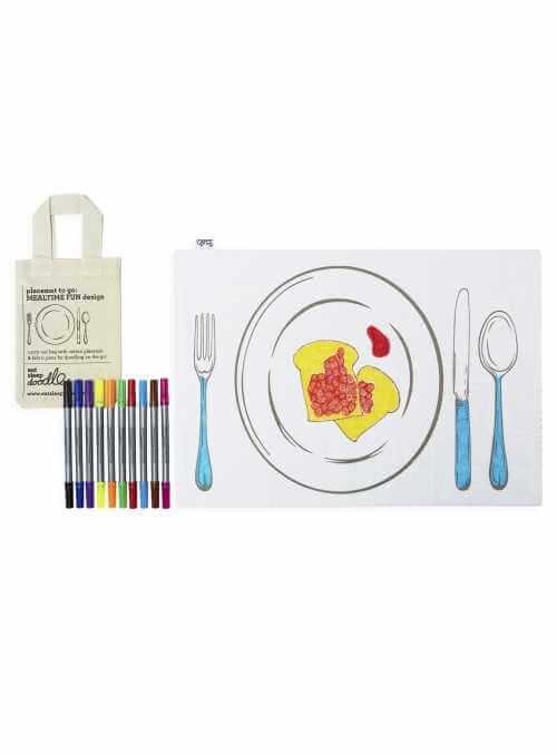 Čas na dobré jedlo - interaktívne prestieranie na vyfarbovanie, vyfarbuj a uč sa
