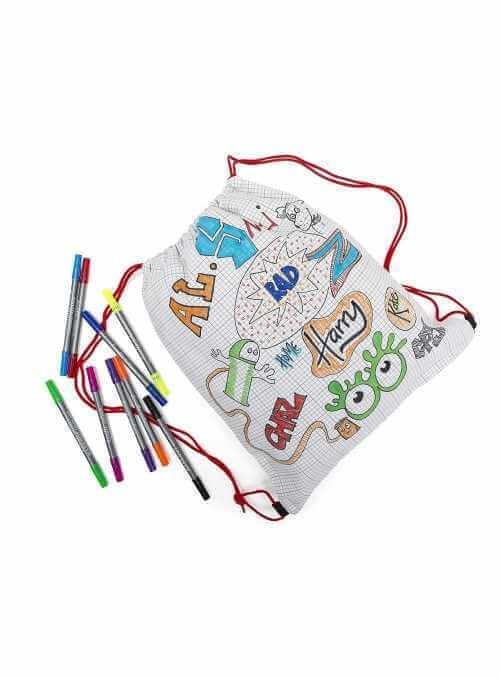 Doodle - batôžtek na vyfarbovanie - vyfarbuj a uč sa