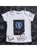 Detské zábavné tričko s popisovateľnou tabuľou + 6 pasteliek
